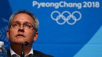 Matthieu Reeb, generální sekretář CAS, vysvětluje verdikt sportovní arbitráže v případu dopingu ruských sportovců.