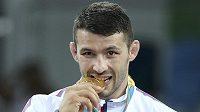 Davor Štefanek se zlatou medailí.