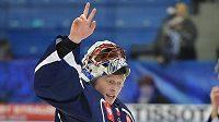 Brankář hokejové Plzně Dominik Frodl si postup v Lize mistrů užíval.