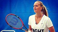 Česká tenistka Petra Kvitová během přípravy na turnaj v Torontu.