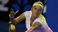 Petra Kvitová v utkání proti Keysové.
