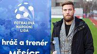 Nejlepším hráčem za listopad byl vyhlášen slovenský záložník ve službách Žižkova Igor Súkenník.