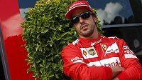 Fernando Alonso při Velké ceně Belgie ve Spa.