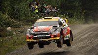 Martin Prokop na trati Finské rallye.