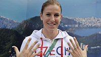 Česká běžkyně Zuzana Hejnová v olympijské vesnici.