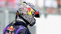 Vettelova přilba z loňského závodu v Monze.