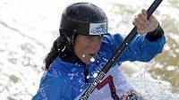 Kajakářka Kateřina Kudějová byla nejrychlejší v dopolední kvalifikaci při finále Světového poháru ve vodním slalomu v Praze