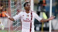 Útočník AC Milán Robinho se diví, proč mu neuznali gól proti Catanii