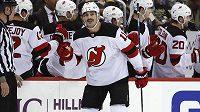 Útočník New Jersey Devils Brian Boyle (11) vstřelil premiérový hattrick v NHL.