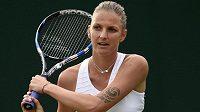 Tenistka Karolína Plíšková ve Wimbledonu.