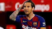 Lionel Messi z Barcelony v utkání proti Seville.