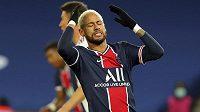 Zklamaná hvězda PSG Neymar.