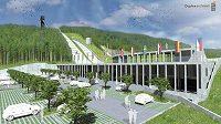 Ze čtyř na pět by mohl vzrůst počet můstků v případě modernizace Skokanského areálu Jiřího Rašky. Ta mimo jiné počítá také s novou věží s rozhlednou či muzeem olympijského vítěze.