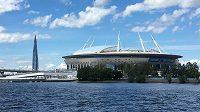 Petrohradská arény vypadá z Něvy skutečně jako vesmírný koráb, který přistál na břehu Finského zálivu.