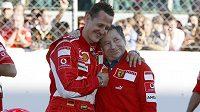 Michael Schumacher a Jean Todt, ještě před osmi lety v týmu Scuderia Ferrari nerozlučná dvojice.
