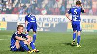 Hráči Olomouce sice deklasovali Teplice 6:0, ale z ligy sestoupili.
