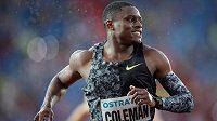 Christian Coleman v cíli.