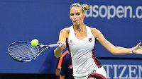 Forhend Karolíny Plíškové v semifinále US Open.
