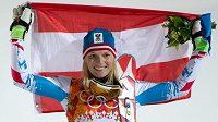 Marlies Schildová na olympijských hrách v Soči vybojovala stříbro ve slalomu.