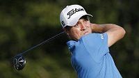 Americký golfista Justin Thomas, vítěz turnaje v Nortonu.