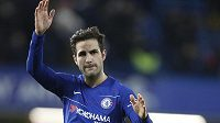 Sbohem! Cesc Fábregas se loučí s fanoušky Chelsea.