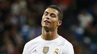 Cristiano Ronaldo z Realu Madrid při utkání s Barcelonou.