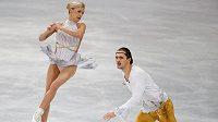 Ruští krasobruslaři Taťjana Volosožarová a Maxim Traňkov vyhráli na ME soutěž sportovních dvojic.
