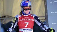 Ester Ledecká v přípravě na závod SP ve sjezdu v Garmisch-Partenkirchenu.