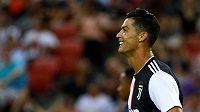 Cristiano Ronaldo v dresu Juventusu během přípravného utkání proti Tottenhamu Hotspur
