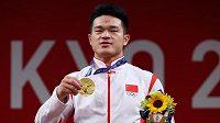 Čínský vzpěrač Š' Č'-jung vyhrál v Tokiu soutěž do 73 kg ve světovém rekordu