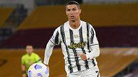 Cristiano Ronaldo z Juventusu Turín se trefil i v zápase proti AS Řím.