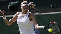 Petra Kvitová bojovala o postup do druhého kola Wimbledonu se Sasnovičovou