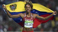 Venezuelská trojskokanka Yulimar Rojasová získala v Riu stříbro.