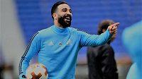 Adil Rami na tréninku Marseille.