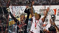 Fotbalisté Sao Paula oslavují zisk Jihoamerického poháru.