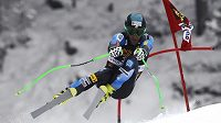Vítězný Steve Nyman z USA na trati sjezdu Světového poháru ve Val Gardeně
