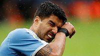 Uruguayský fotbalista Luis Suárez selhal během penaltového rozstřelu ve čtvrtfinálovém utkání mistrovství Jižní Ameriky proti Peru.
