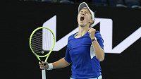 Velká radost Barbory Krejčíkové po zisku titulu v mixu na Australian Open