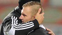 Střelec jediného gólu Jakub Hora z Českých Budějovic.