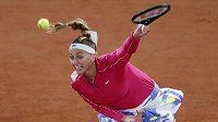 Petra Kvitová v zápase prvního kola French Open proti domácí Dodinové