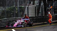 Sergio Pérez se během Velké ceny Monaka málem střetl s traťovými komisaři.