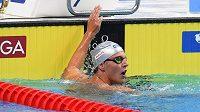 Jan Micka po rozplavbě na 1500 metrů.