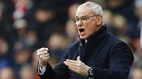 Trenér Leicesteru Claudio Ranieri během zápasu 26. kola anglické Premier League proti Arsenalu.