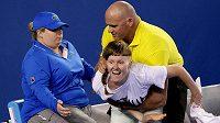 Tento demonstrant narušil finálový zápas Australian Open.