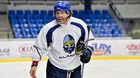 Jaromír Jágr na pondělním tréninku kladenských hokejistů.