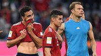Zklamaní hráči Bayernu.