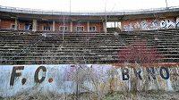Stadión Za Lužánkami je v zanedbaném stavu, Petr Švancara to chce změnit.