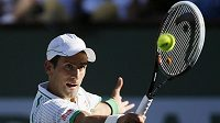 Srbský tenista Novak Djokovič na turnaji v Indian Wells.