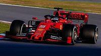 Sebastian Vettel během předsezonních testů.