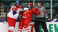Čeští hokejisté v duelu s Ruskem na MS hráčů do 18 let propadli, na řadě je čtvrtfinále s Kanadou.